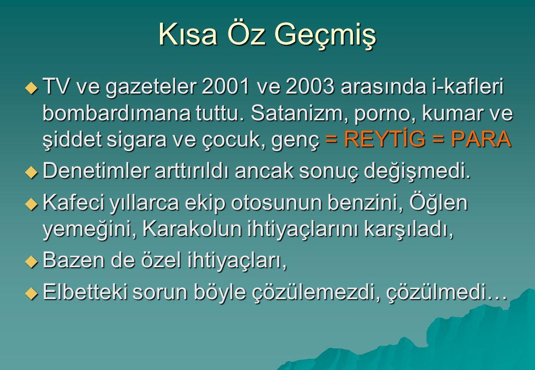 Kısa Öz Geçmiş  TV ve gazeteler 2001 ve 2003 arasında i-kafleri bombardımana tuttu.