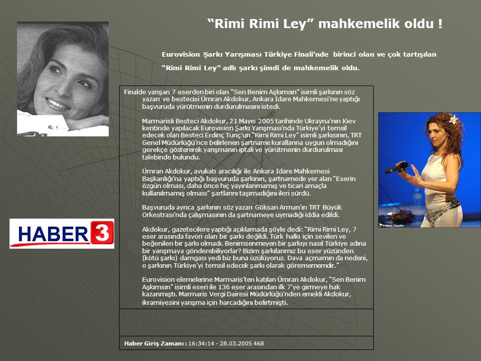 """Finalde yarışan 7 eserden biri olan """"Sen Benim Aşkımsın"""" isimli şarkının söz yazarı ve bestecisi Ümran Akdokur, Ankara İdare Mahkemesi'ne yaptığı başv"""
