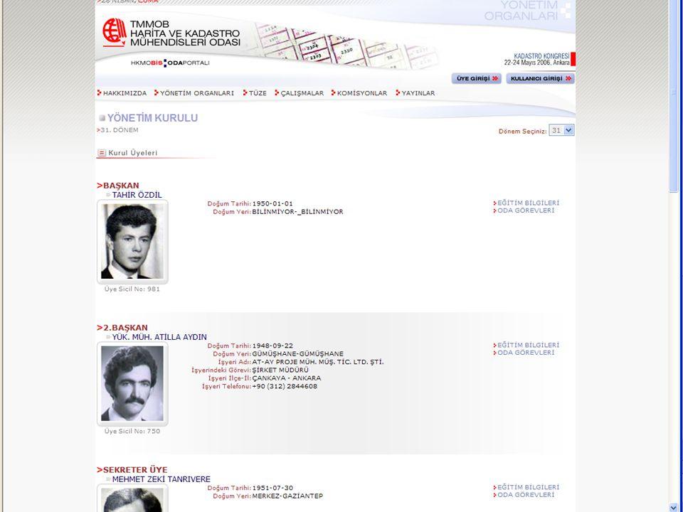 Dr.Tahir ÖZDİL 31. Dönem HKMO Yönetim Kurulu Başkanı (1988-90) Türkiye II.