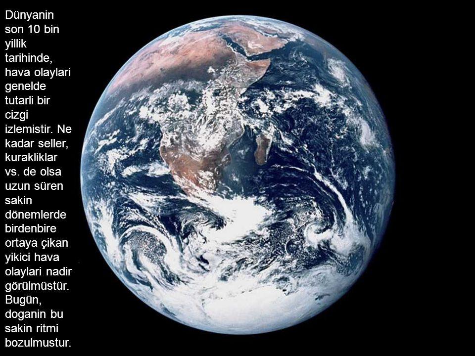 Dünyanin son 10 bin yillik tarihinde, hava olaylari genelde tutarli bir cizgi izlemistir. Ne kadar seller, kurakliklar vs. de olsa uzun süren sakin dö