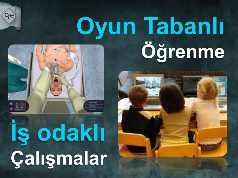 Öğrenme Oyun Tabanlı Öğrenme İş odaklı Çalışmalar