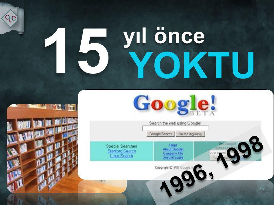 yıl önce yıl önce YOKTU 15 Araştırma, öğrenme alışkanlıklarımız değişti. 1996, 1998 1996, 1998
