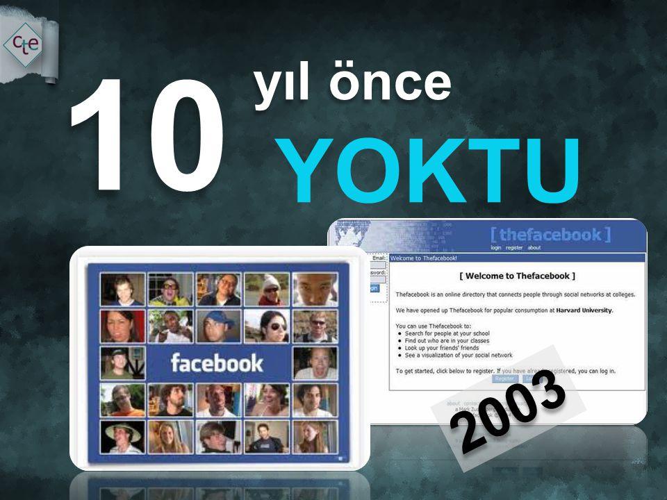 yıl önce yıl önce YOKTU 10 2003 İletişimimizpaylaşımlarımızdeğişti