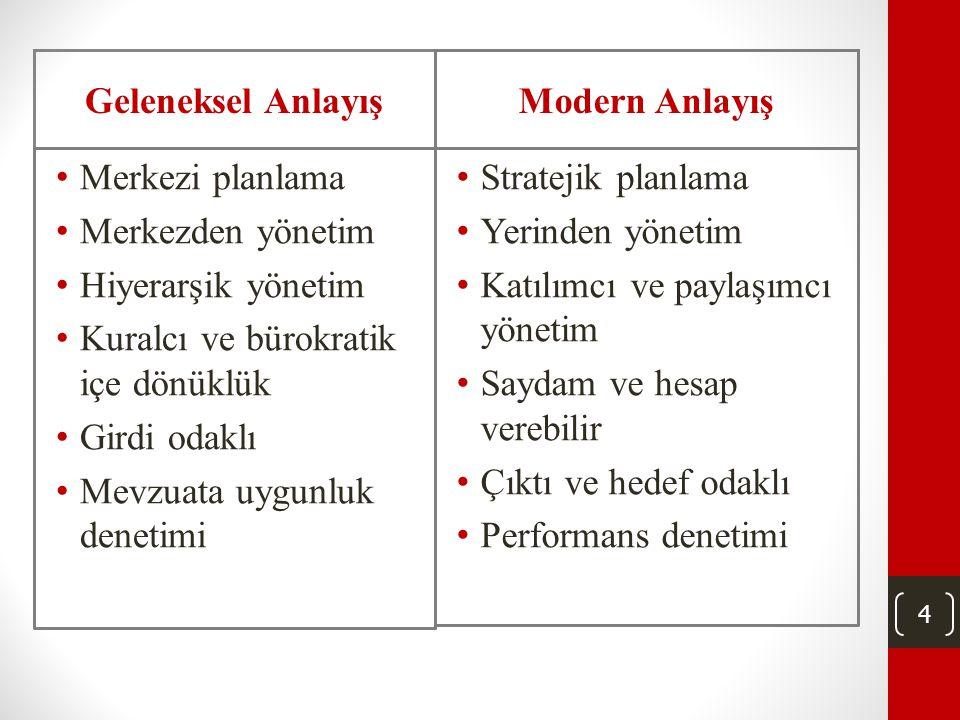 3 Yeni Mali Yönetim Sistemi • Katılımcı ve paylaşımcı • Şeffaf ve hesap vermeye elverişli • Stratejik planlama ve performans yönetimine dayalı • Gelec