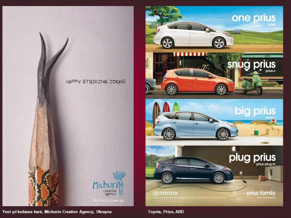 Yeni yıl kutlama kartı, Michurin Creative Agency, UkraynaToyota, Prius, ABD