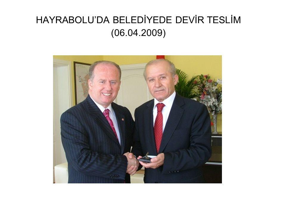 TTSO BAŞKANI YURDANUR VE BAZI YÖNETİM KURULU ÜYELERİ BELEDİYEMİZİ ZİYARET ETTİ. (25.07.2009).
