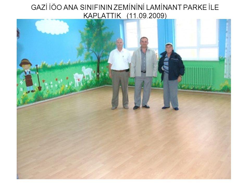 GAZİ İÖO ANA SINIFININ ZEMİNİNİ LAMİNANT PARKE İLE KAPLATTIK (11.09.2009)