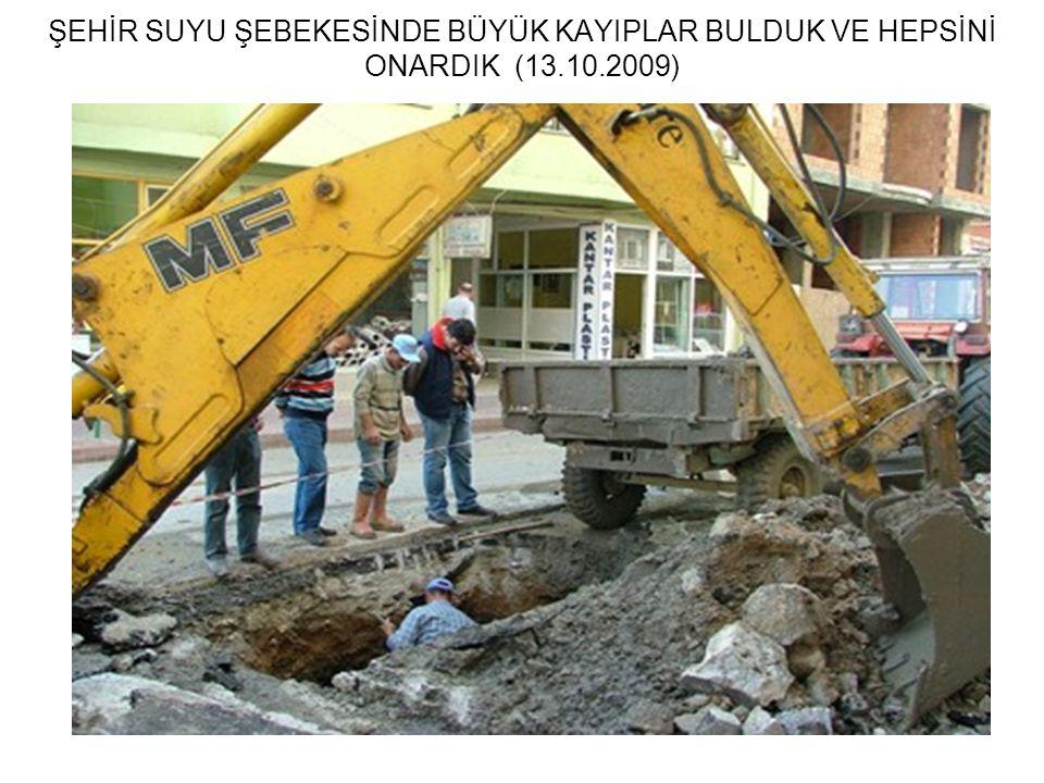 ŞEHİR SUYU ŞEBEKESİNDE BÜYÜK KAYIPLAR BULDUK VE HEPSİNİ ONARDIK (13.10.2009)