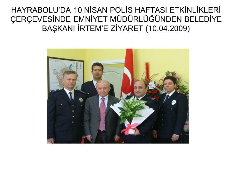 TEKİRDAĞ VALİMİZ ZÜBEYİR KEMELEK BELEDİYEMİZİ ZİYARET ETTİ (14.10.2009)