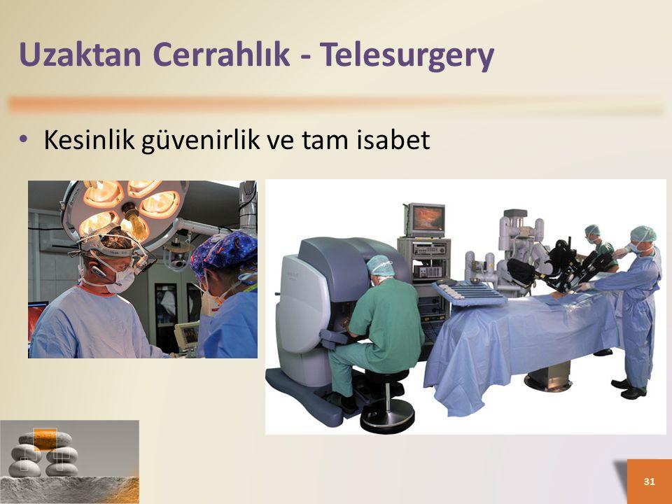 Uzaktan Cerrahlık - Telesurgery • Kesinlik güvenirlik ve tam isabet 31