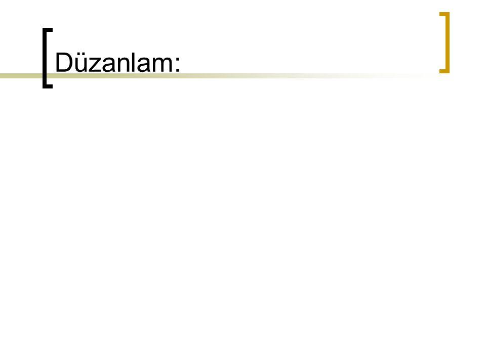 Düzanlam: