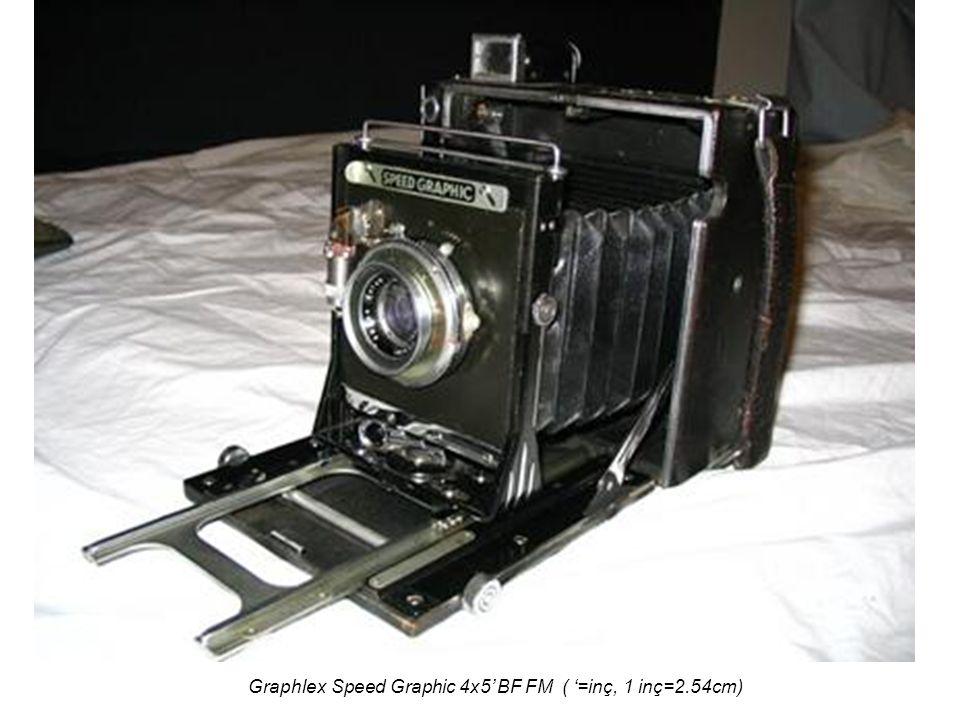 Graphlex Speed Graphic 4x5' BF FM ( '=inç, 1 inç=2.54cm)