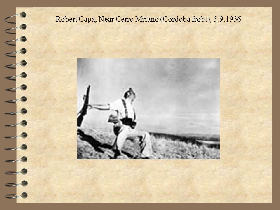 Robert Capa, Near Cerro Mriano (Cordoba frobt), 5.9.1936