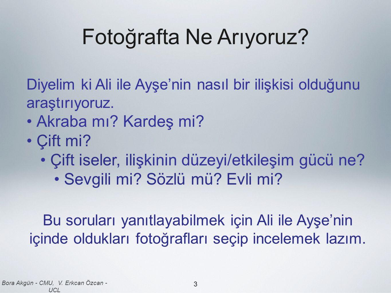 Bora Akgün - CMU, V.Erkcan Özcan - UCL 3 Fotoğrafta Ne Arıyoruz.