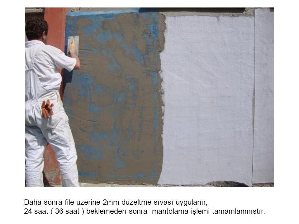 24 saat ( 36 saat ) beklemeden sonra duvar boyaya hazır gelmiştir.