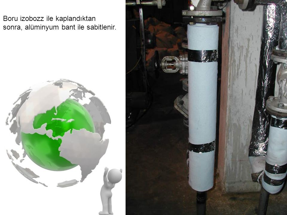 izoBOZZ uygulamasının ardından izolasyonsuz ortamda 180 derece olarak ölçülen dış boru sıcaklığı 34 derece olarak belirlenmiştir.
