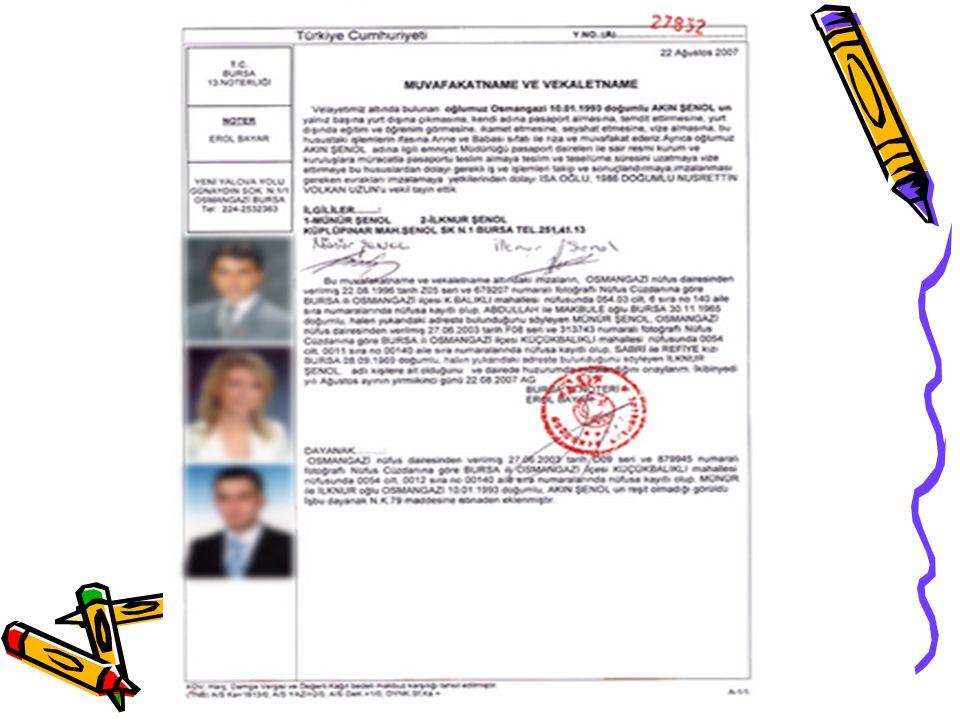 *Müdürlüklerimize ibraz edilen yetki belgesi işlem yapılan yıla ait ise konuya ilişkin herhangi bir sorgulama yapılmadan kabul edilmelidir.