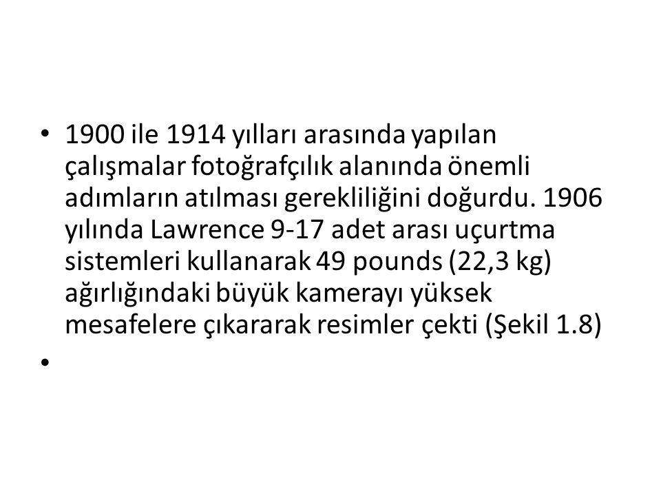 • 1900 ile 1914 yılları arasında yapılan çalışmalar fotoğrafçılık alanında önemli adımların atılması gerekliliğini doğurdu. 1906 yılında Lawrence 9-17