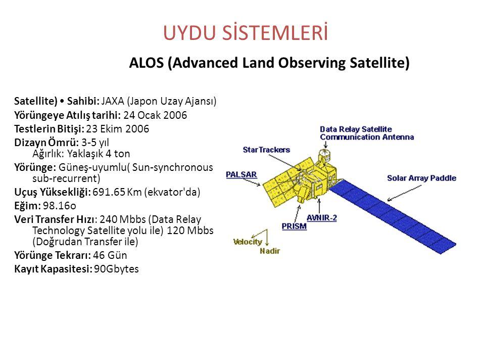 Satellite) • Sahibi: JAXA (Japon Uzay Ajansı) Yörüngeye Atılış tarihi: 24 Ocak 2006 Testlerin Bitişi: 23 Ekim 2006 Dizayn Ömrü: 3-5 yıl Ağırlık: Yakla