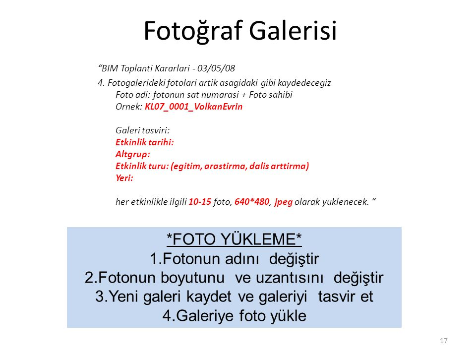 Fotoğraf Galerisi BIM Toplanti Kararlari - 03/05/08 4.