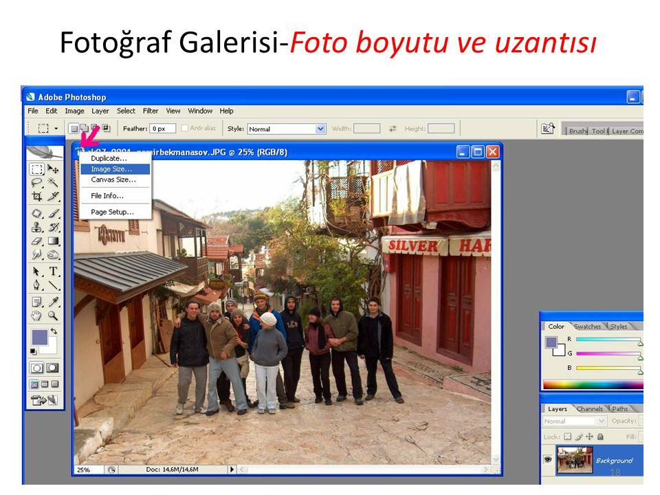 Fotoğraf Galerisi-Foto boyutu ve uzantısı 18