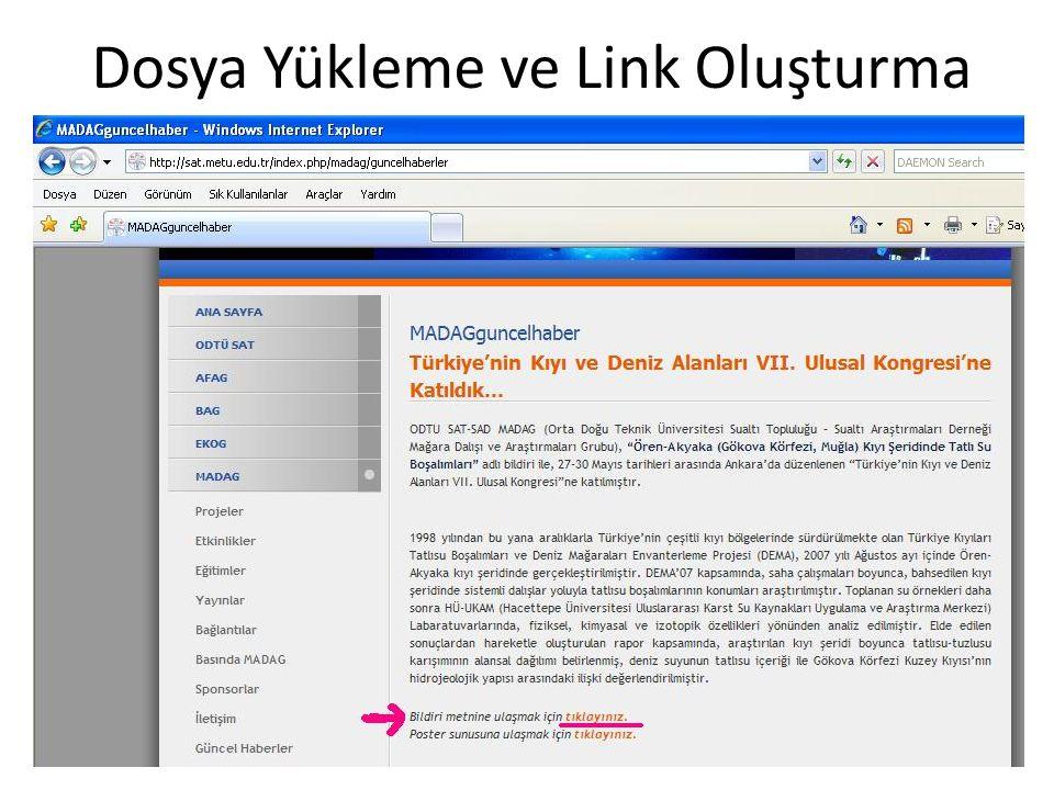 Dosya Yükleme ve Link Oluşturma 25