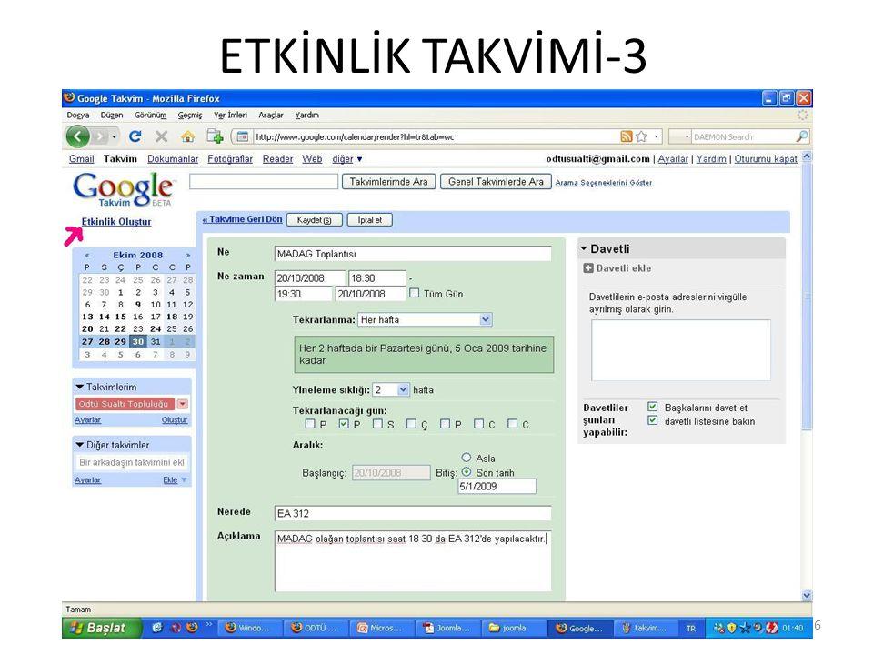 ETKİNLİK TAKVİMİ-3 6