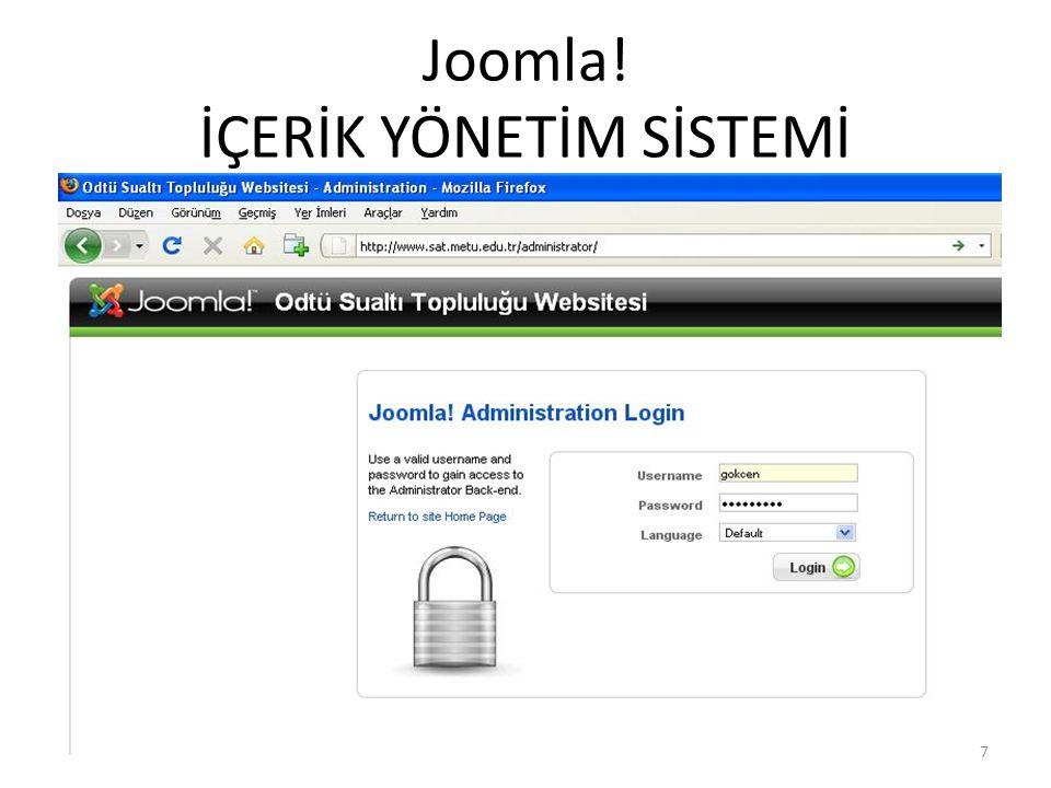 Joomla! İÇERİK YÖNETİM SİSTEMİ 7