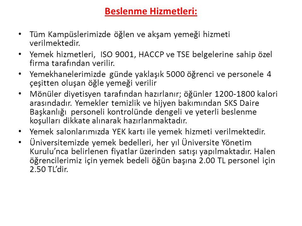 Barınma Hizmetleri • SKS Daire Başkanlığı'na bağlı Maslak Kampüsünde 544 öğrenci kapasiteli kız ve erkek öğrenci; Davut paşa kampüsünde ise 114 öğrenci kapasiteli Çağdaş Yaşam Sennur Selçuk Öztab kız öğrenci ve 20 öğrenci kapasiteli İstanbul Kız Liseliler yurtları olmak üzere toplam 134 kapasiteli kız öğrenci yurdumuz bulunmaktadır.