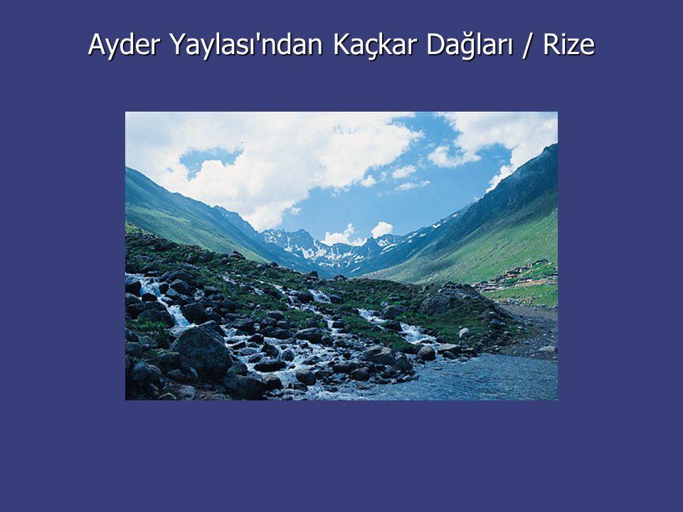 Ayder Yaylası'ndan Kaçkar Dağları / Rize