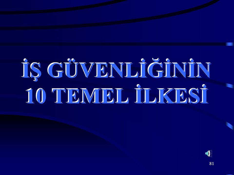 81 İŞ GÜVENLİĞİNİN 10 TEMEL İLKESİ