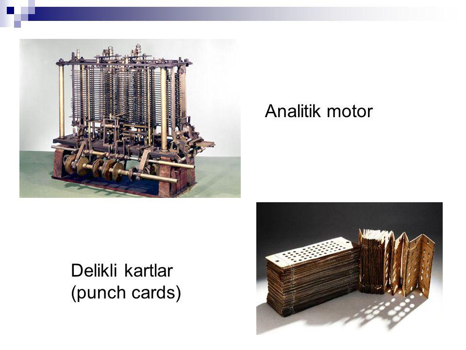 Analitik motor Delikli kartlar (punch cards)