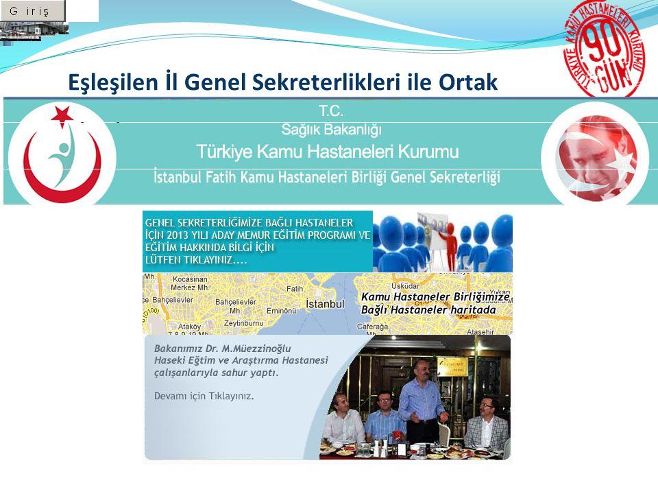Eşleşilen İl Genel Sekreterlikleri ile Ortak Çalışmanın Tamamlanması