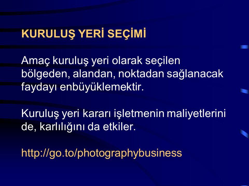 FOTOĞRAF SEKTÖRÜ İŞLETMECİLİĞİ İşletmeciliği de bilen fotoğrafçılar, fotoğrafçılığı da bilen işletmeciler amaçlanır. http://go.to/photographybusiness