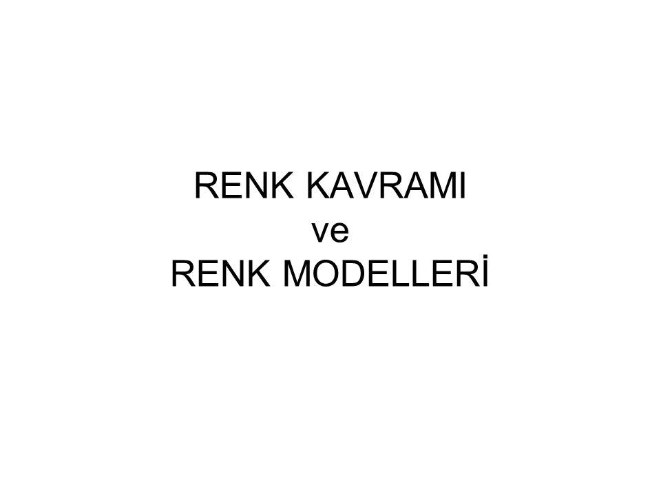 RENK KAVRAMI ve RENK MODELLERİ