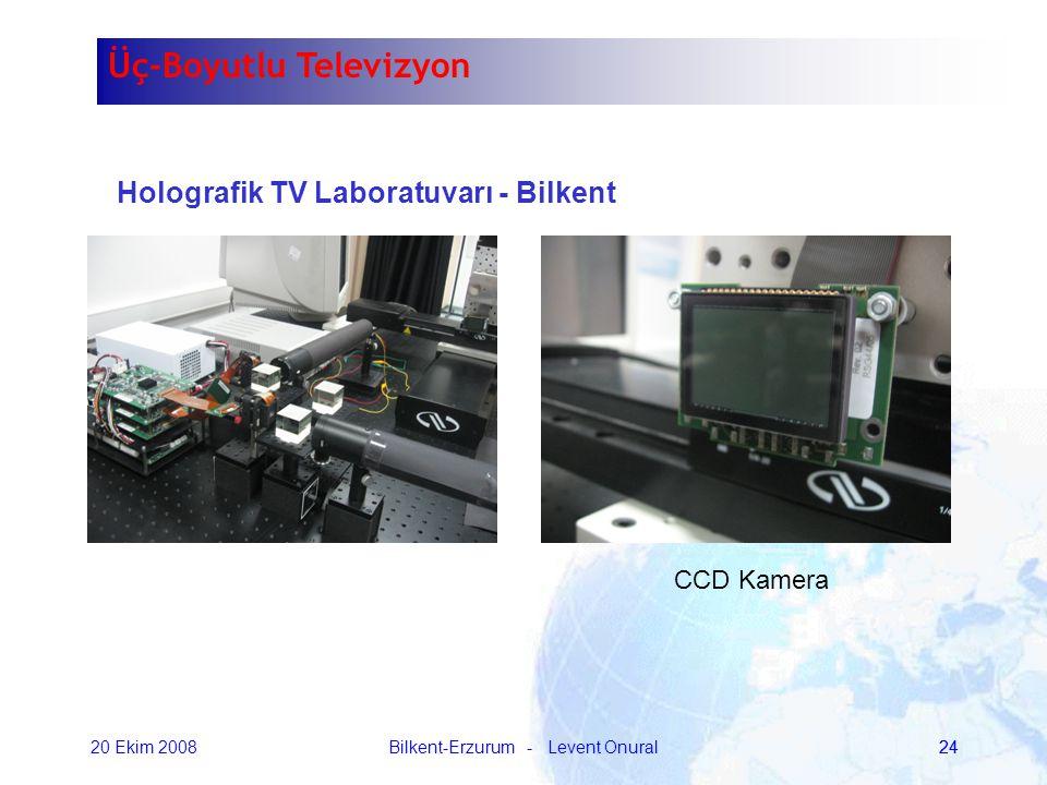 20 Ekim 2008Bilkent-Erzurum - Levent Onural24 Holografik TV Laboratuvarı - Bilkent CCD Kamera Üç-Boyutlu Televizyon