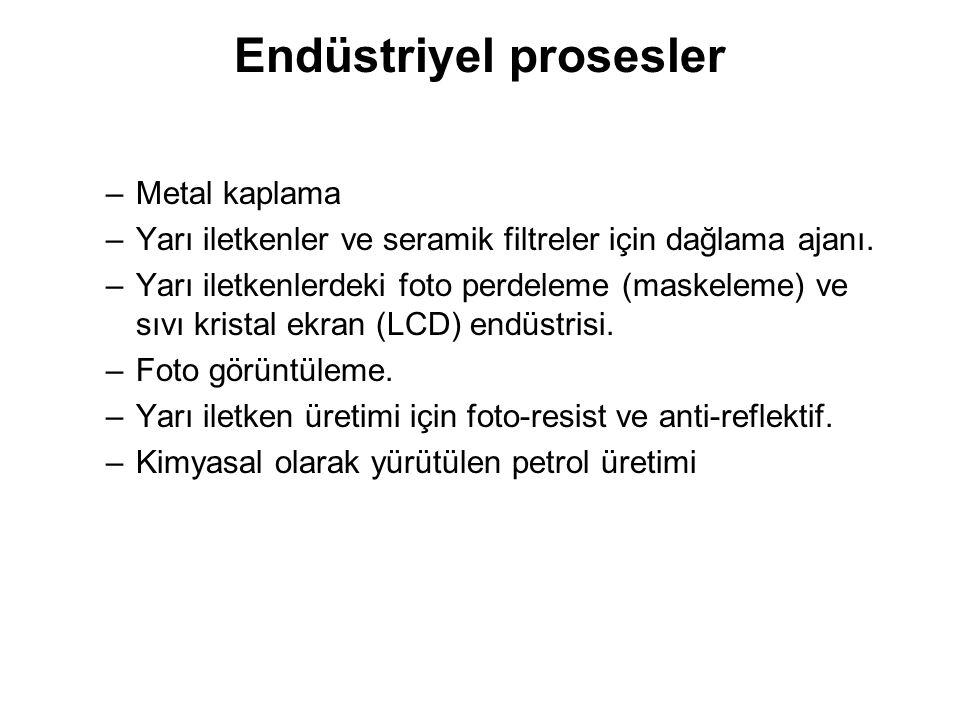 Endüstriyel prosesler –Metal kaplama –Yarı iletkenler ve seramik filtreler için dağlama ajanı.