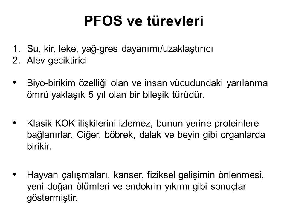 Anketler İçin •- Üretimini yaptığınız üründe PFOS ve benzeri alev geciktirici ya da yüzey aktifleştirme amaçlı bir kimyasal bulunuyor mu.