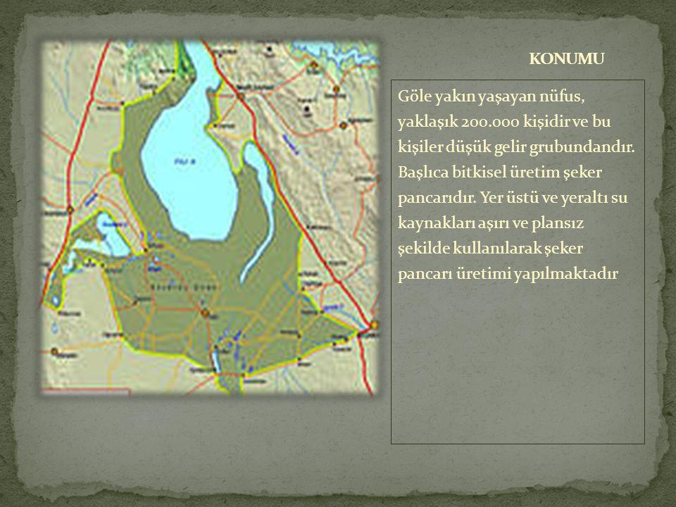  Tuz Gölü ülkemizin yıllık tuz ihtiyacının %60'ını karşılamaktadır.