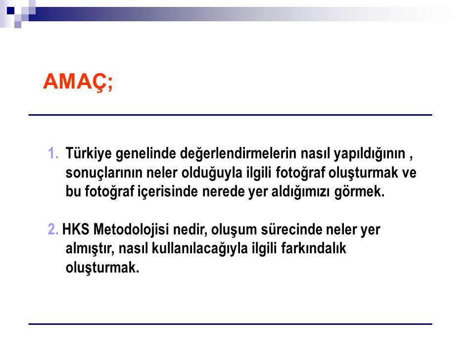 1.Türkiye genelinde değerlendirmelerin nasıl yapıldığının, sonuçlarının neler olduğuyla ilgili fotoğraf oluşturmak ve bu fotoğraf içerisinde nerede ye