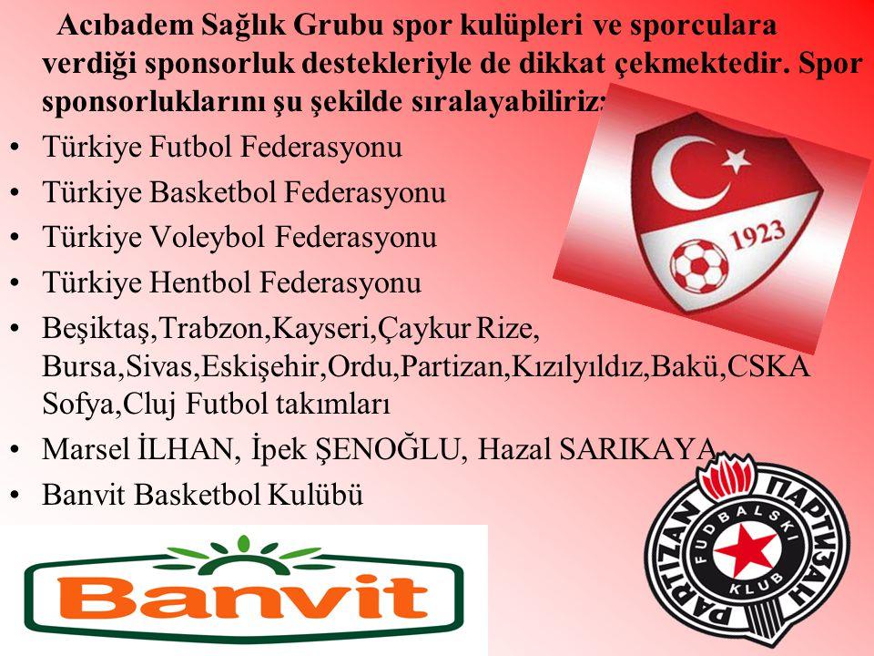Acıbadem Sağlık Grubu spor kulüpleri ve sporculara verdiği sponsorluk destekleriyle de dikkat çekmektedir.