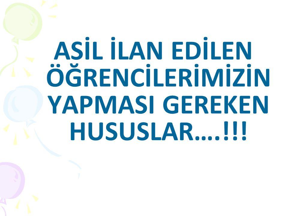Erasmus Aday Asil Öğrencisi kimdir.