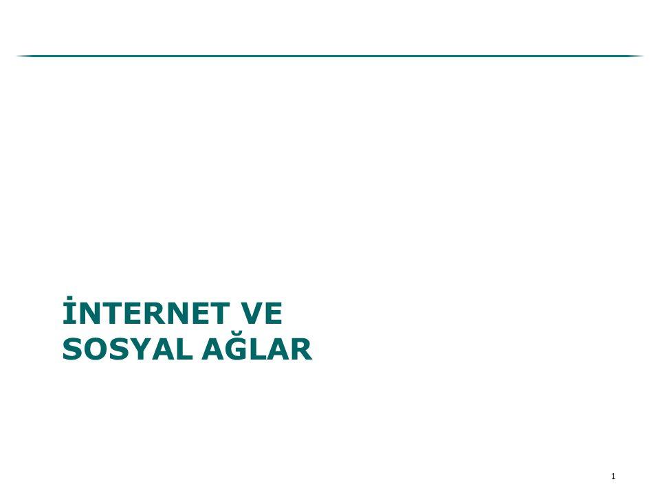 2 İnternet - Yeni Pazarlama Aracı Dünyada Kullanıcı Sayısı: 2 milyar kişi Nüfusun %26'sı Türkiye'de Kullanıcı Sayısı: 35 Milyon kişi Nüfusun %50'si
