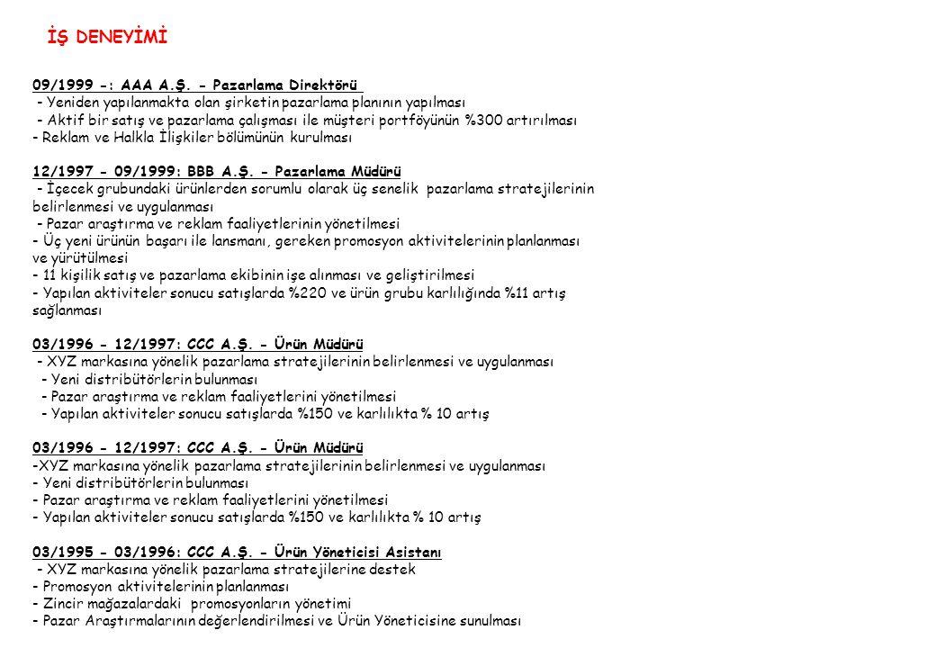 KİŞİSEL BİLGİLER AKADEMİK ÇALIŞMA Uyruğu T.C Doğum YeriElazığ Doğum Tarihi01/01/1970 Askerlik Durumu 11/1993 - 02/1995 Arasında yedek subay Medeni Dur