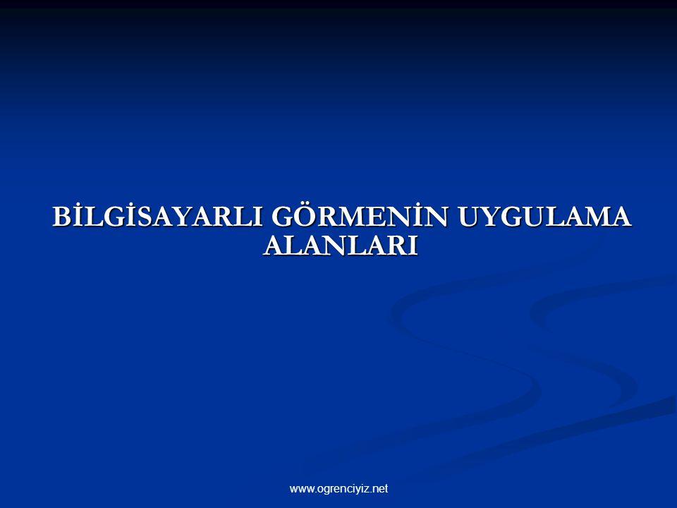 BİLGİSAYARLI GÖRMENİN UYGULAMA ALANLARI www.ogrenciyiz.net
