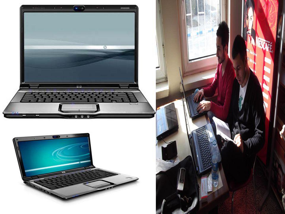 LAPTOP(DİZÜSTÜ BİLGİSAYAR)  Normal masaüstü bilgisayarlardaki bütün teknolojik özelliklere sahiptir.  Masaüstü bilgisayarlara göre olumlu yanı; taşı