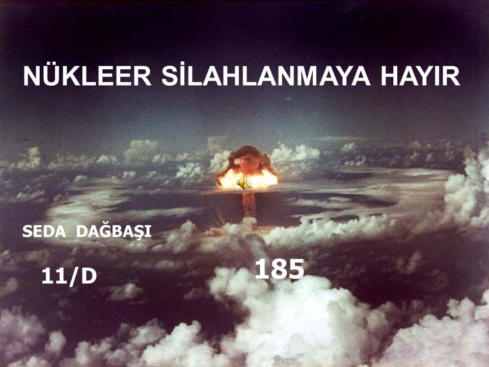 NÜKLEER SİLAHLANMAYA HAYIR SEDA DAĞBAŞI 11/D 185