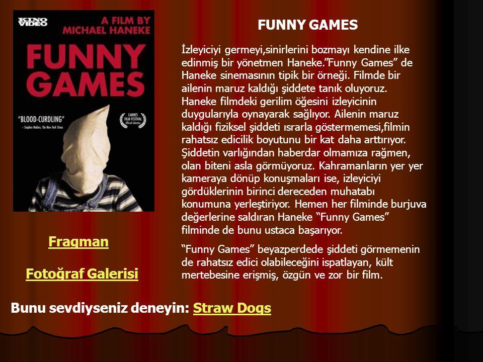 """FUNNY GAMES İzleyiciyi germeyi,sinirlerini bozmayı kendine ilke edinmiş bir yönetmen Haneke.""""Funny Games"""" de Haneke sinemasının tipik bir örneği. Film"""