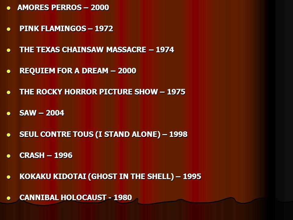  RADICAL!! …………………………………………..AKIRA - 1988  GROTESQUE!! …………………………………….FREAKS - 1932  ASTONISHING!! ……………………………..BAD TASTE - 1987  UNEXPECTED!! ………………………………....
