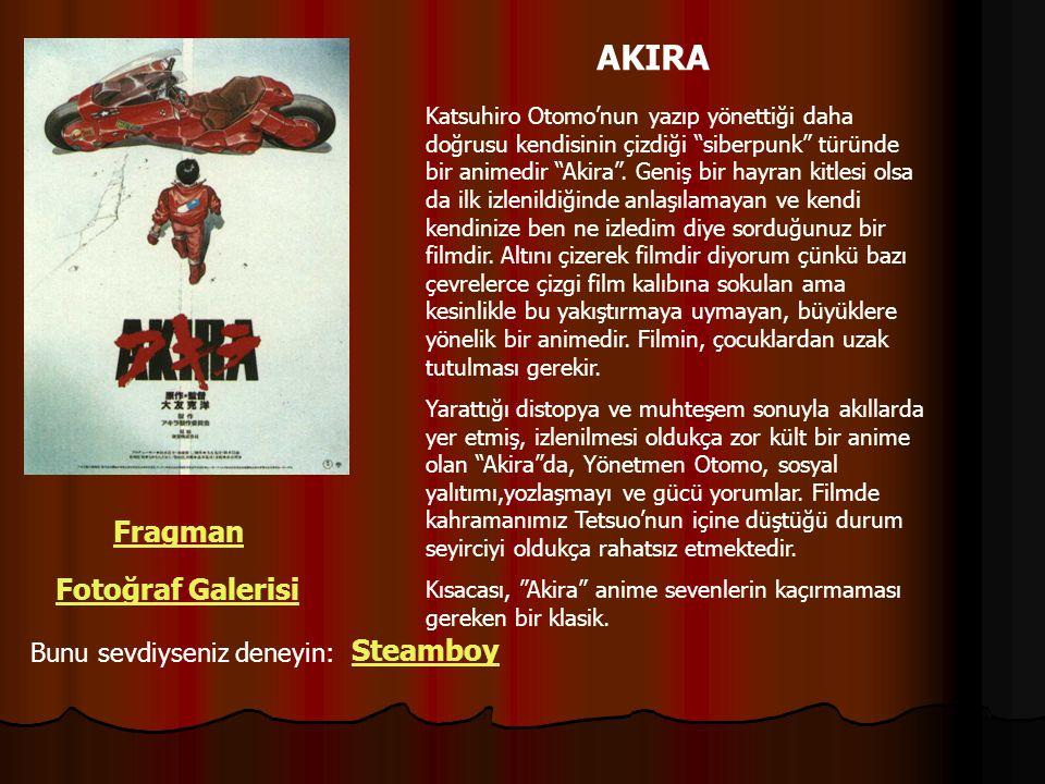 """AKIRA Katsuhiro Otomo'nun yazıp yönettiği daha doğrusu kendisinin çizdiği """"siberpunk"""" türünde bir animedir """"Akira"""". Geniş bir hayran kitlesi olsa da i"""